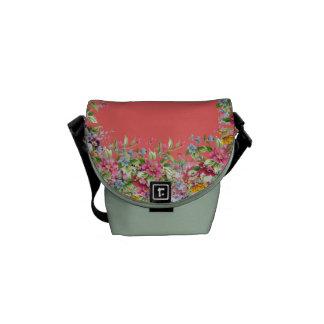 Classic floral bolsa de mensajeria