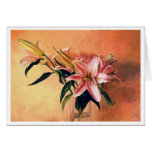 Classic Flower Arrangement still life oil paint Stationery Note Card