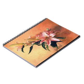 Classic Flower Arrangement still life oil paint Note Books