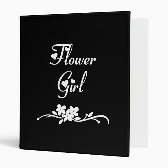 Classic Flower Girl 3 Ring Binder