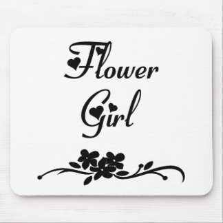 Classic Flower Girl Mouse Pad
