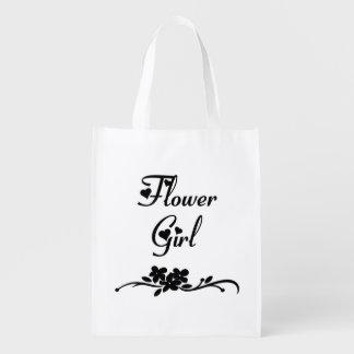 Classic Flower Girl Reusable Grocery Bag