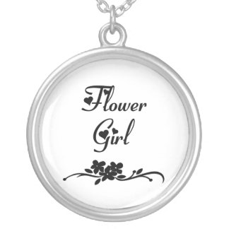 Classic Flower Girl Silver Plated Necklace
