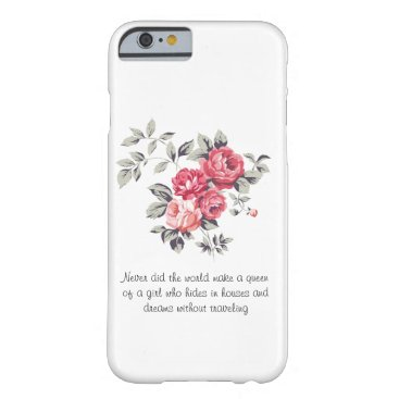 classic flowers barely there iPhone 6 case