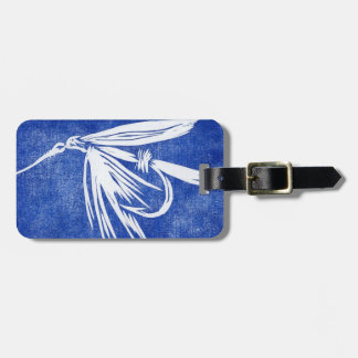 Classic Fly Blue Wet Fly Luggage Tag