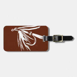Classic Fly Brown Wet Fly Luggage Tag