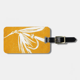 Classic Fly Golden  Wet Fly Luggage Tag