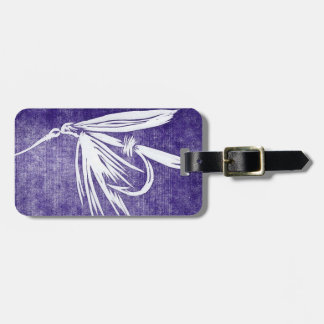 Classic Fly Purple Wet Fly Luggage Tag