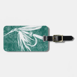 Classic Fly Red Wet Fly Luggage Tag