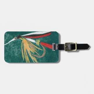 """Classic Fly """"Trout Fin"""" Wet Fly Luggage Tag"""