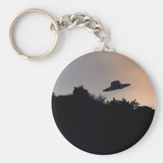 Classic Flying Saucer 2 Keychain