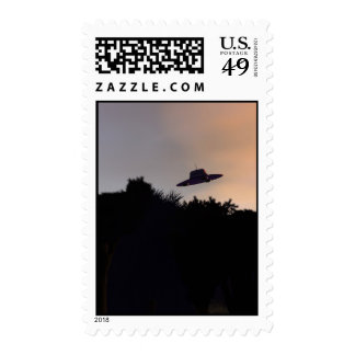 Classic Flying Saucer 2 Postage
