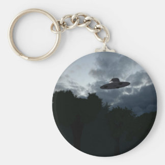 Classic Flying Saucer Keychain