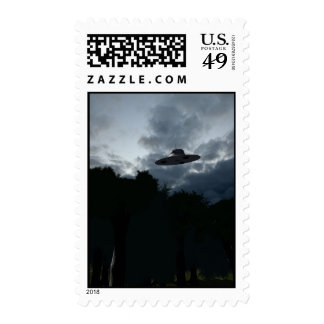 Classic Flying Saucer Postage