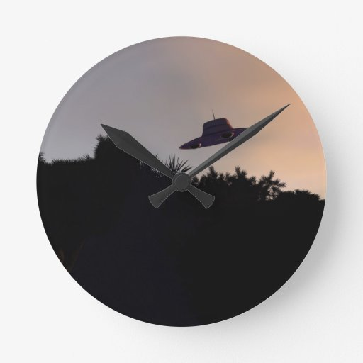 Classic Flying Saucer V2 Wall Clock