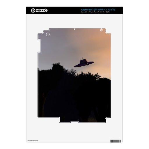 Classic Flying Saucer V2 Zazzle Skin Skin For iPad 3