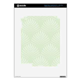 Classic foliage pattern in white and green skin for iPad 3