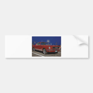 Classic Ford Mustang Fastback Bumper Sticker