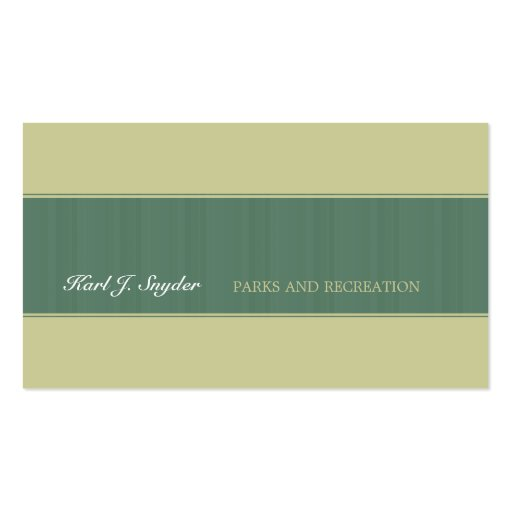 Classic Forest Green Business Cards