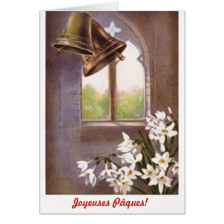 Classic formal Joyeuses Pâques (French) Stationery Note Card