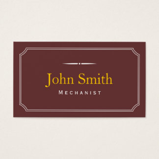 Classic Frame Brown Mechanic Business Card