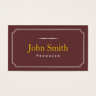 Classic Frame Brown Producer Business Card
