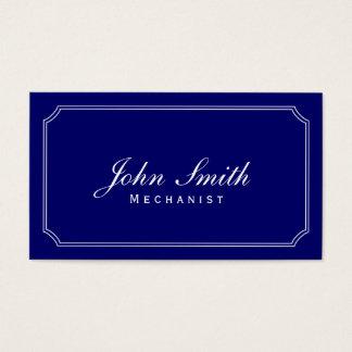 Classic Frame Dark Blue Mechanic Business Card