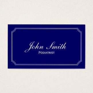 Classic Frame Dark Blue Podiatrist Business Card