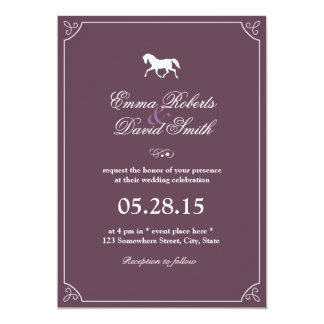 Classic Frame Running Horse Wedding Invitations