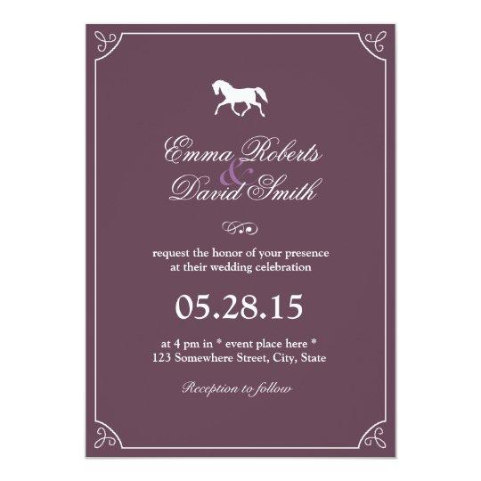 Classic Frame Running Horse Wedding Invitations Zazzle Com
