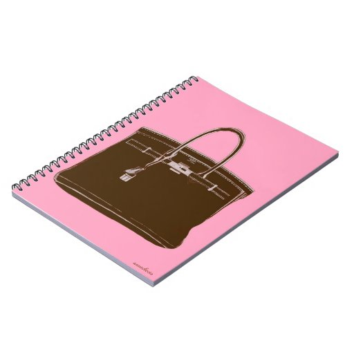 CLASSIC FRENCH BAG NOTEBOOK BROWN/PINK
