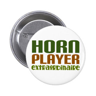 Classic French Horn extraordinaire Pinback Button