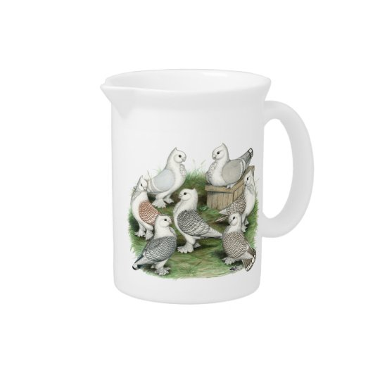 Classic Frill Pigeons Beverage Pitcher