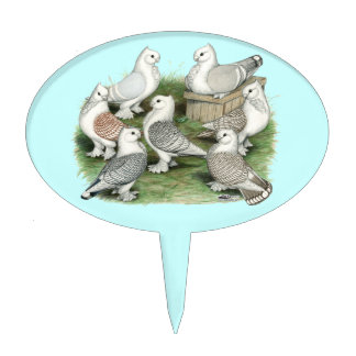 Classic Frill Pigeons Cake Topper