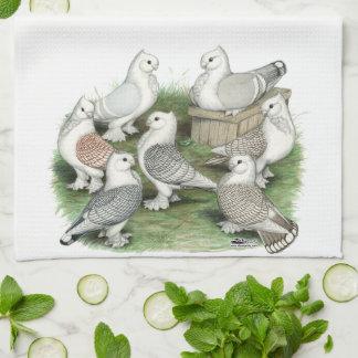 Classic Frill Pigeons Towel