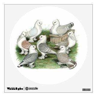 Classic Frill Pigeons Wall Sticker