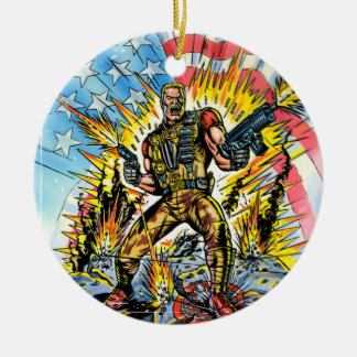 Classic G.I. Joe Double-Sided Ceramic Round Christmas Ornament