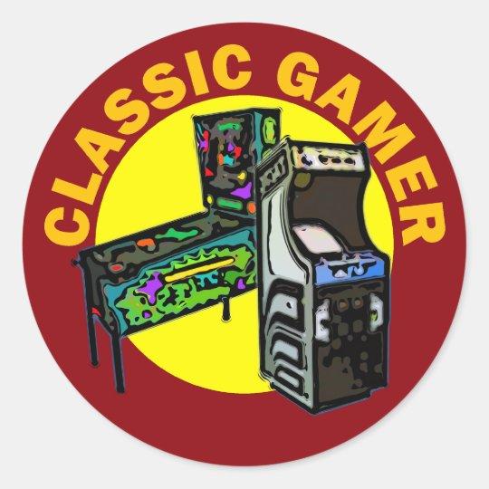 Classic Gamer Classic Round Sticker