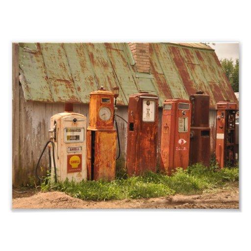 Classic Gas Pumps Photo Print