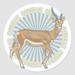 Classic Gazelle Round Stickers