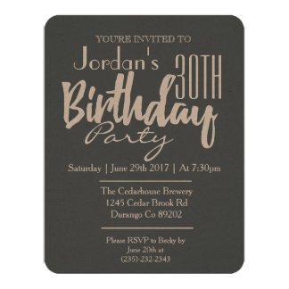 Classic Gender Neutral Birthday Party Invitation