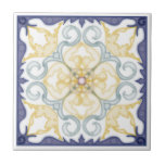 "Classic Geometric 4 Corner Mirror Design-Trivet 2 Tile<br><div class=""desc"">Ceramic trivet with a Classical Geometric Moroccan style Design that constitutes 4 mirrored (reflected and rotated) corner patterns around a center point,  inside a fancy frame. This design and color group is done in four styles: Regular,  Water Color style,  Dry Brush Style,  and Cut Out style renderings.</div>"