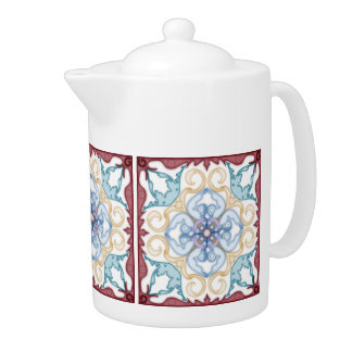 Classic Geometric Moroccan style Design-Tea Pot 1
