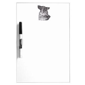 Classic German Shepherd profile Portrait Drawing Dry Erase Board