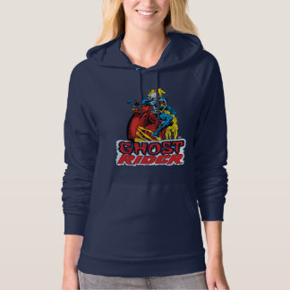 Classic Ghost Rider On Flaming Motorcycle Hoodie