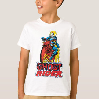 Classic Ghost Rider On Flaming Motorcycle T-Shirt