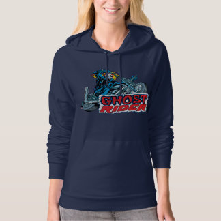 Classic Ghost Rider Riding Motorcycle Hoodie