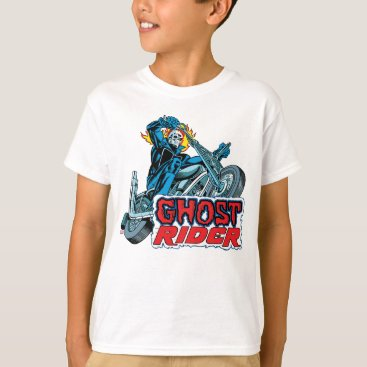 marvelclassics Classic Ghost Rider Riding Motorcycle T-Shirt