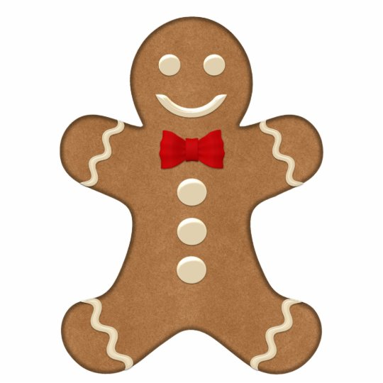 Classic Gingerbread Man Holiday Cutout