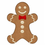 Classic Gingerbread Man Holiday Ornament Photo Cutout